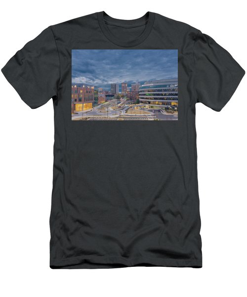 Men's T-Shirt (Athletic Fit) featuring the photograph Greenville Night 1 by David Waldrop