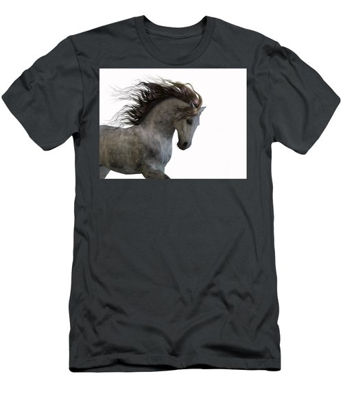 Grey On White Men's T-Shirt (Athletic Fit)