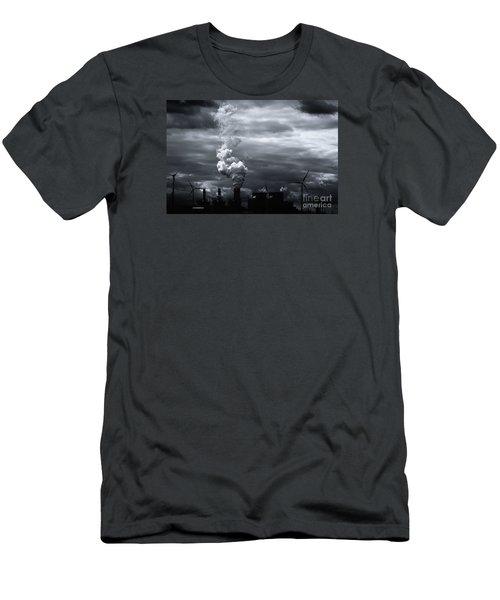 Grim Black White Energy Landscape Men's T-Shirt (Athletic Fit)