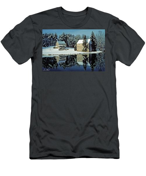 Grings Mill Snow 001 Men's T-Shirt (Athletic Fit)