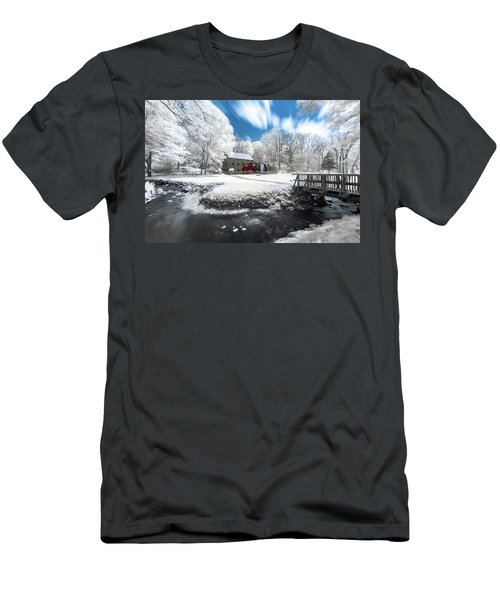Men's T-Shirt (Athletic Fit) featuring the photograph Grist Mill In Halespectrum by Brian Hale