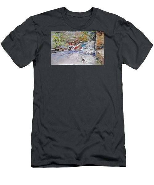 Grist Mill Spill Way Men's T-Shirt (Slim Fit) by P Anthony Visco