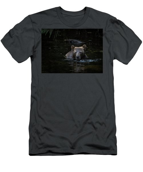 Grizzly Swimmer Men's T-Shirt (Athletic Fit)