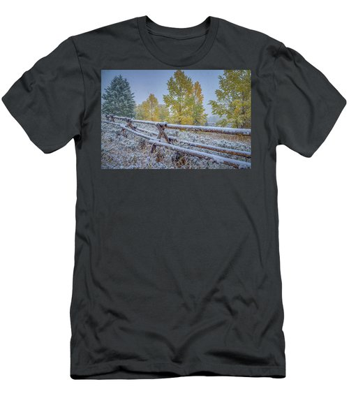 Gros Ventre Grand Teton Fall Snowfall Fence Men's T-Shirt (Athletic Fit)