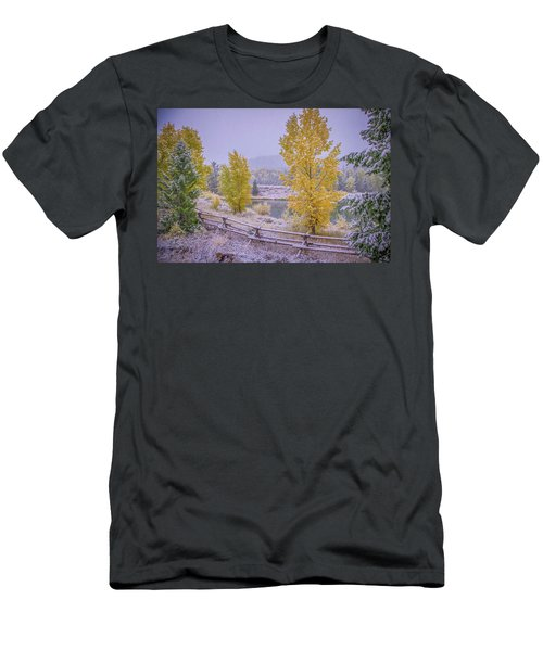 Gros Ventre Grand Teton Fall Snowfall Men's T-Shirt (Athletic Fit)