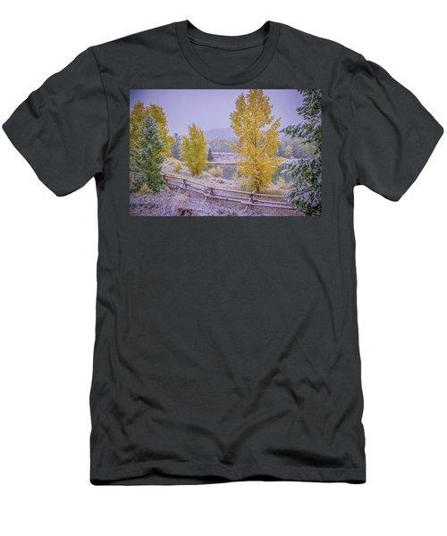 Gros Ventre Grand Teton Fall Snowfall Men's T-Shirt (Athletic Fit)