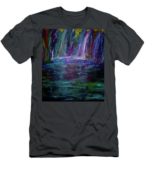 Men's T-Shirt (Slim Fit) featuring the painting Grotto by Heidi Scott
