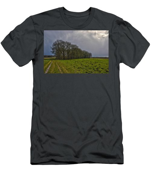 Group Of Trees Against A Dark Sky Men's T-Shirt (Athletic Fit)