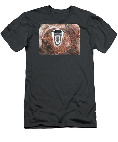 Growling Bear Men's T-Shirt (Athletic Fit)