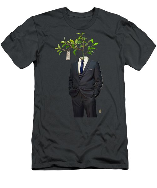 Men's T-Shirt (Slim Fit) featuring the drawing Growth by Rob Snow