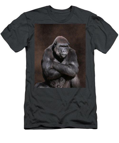 Grumpy Gorilla Men's T-Shirt (Athletic Fit)