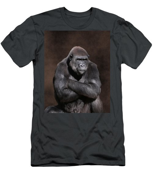 Grumpy Gorilla Men's T-Shirt (Athletic Fit)