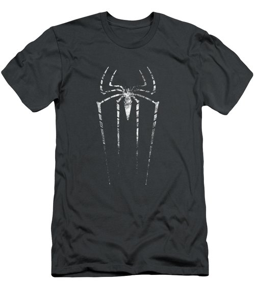 Grunge Silhouette Of Spider. Men's T-Shirt (Athletic Fit)