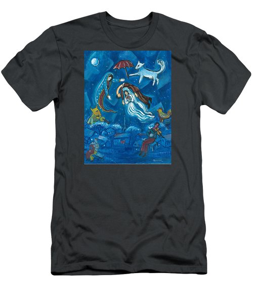 Guadalupe Visits Chagall Men's T-Shirt (Slim Fit) by James Roderick