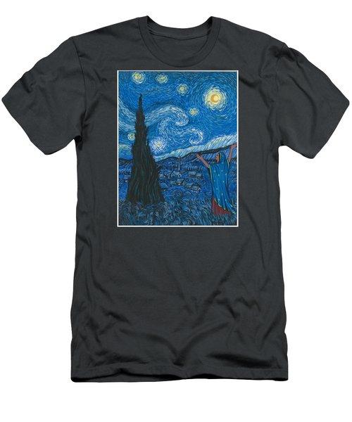 Guadalupe Visits Van Gogh Men's T-Shirt (Slim Fit)