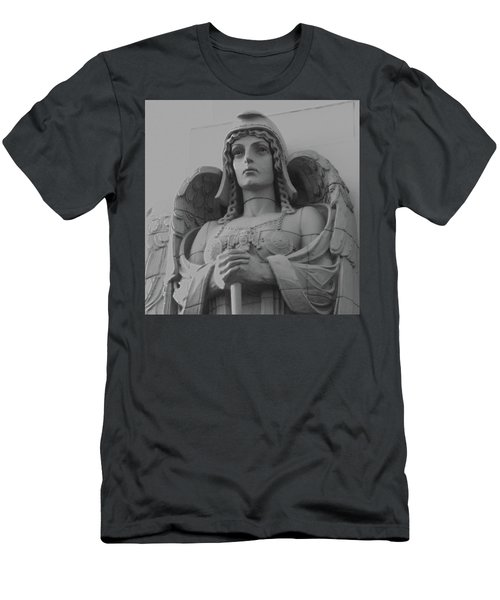Guardian Angel On Watch Men's T-Shirt (Athletic Fit)