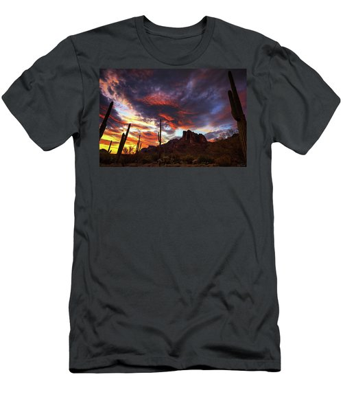 Guardians Of The Mountain Men's T-Shirt (Slim Fit) by Rick Furmanek