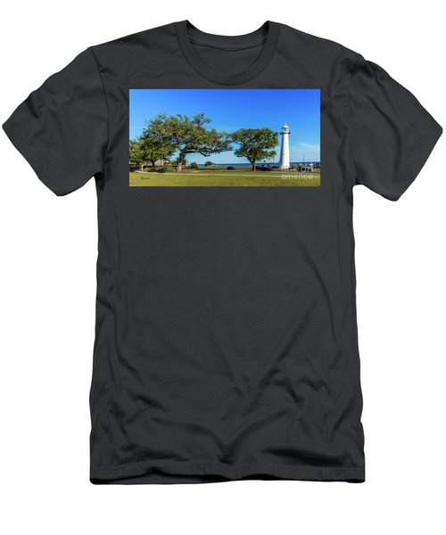 Gulf Coast Lighthouse Seascape Biloxi Ms 3663b Men's T-Shirt (Athletic Fit)