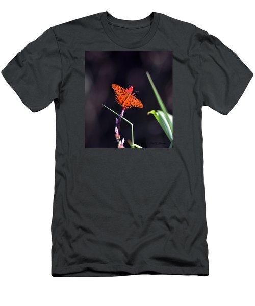 Gulf Fritillary Butterflyl Men's T-Shirt (Athletic Fit)