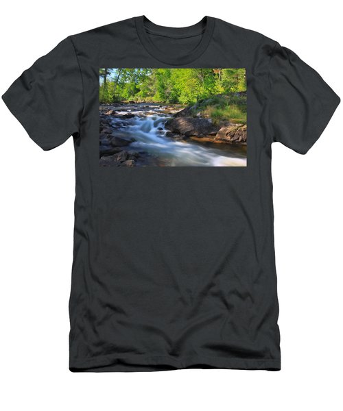 Gull River Falls - Gunflint Trail Minnesota Men's T-Shirt (Athletic Fit)