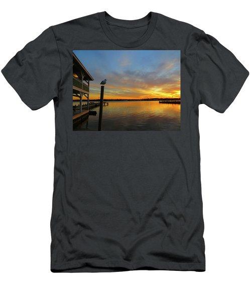 Gull Sunset Men's T-Shirt (Athletic Fit)