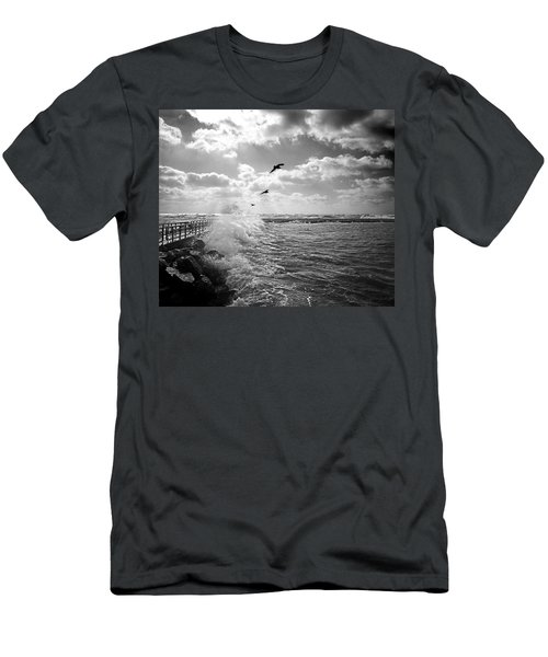 Gulls In A Gale Men's T-Shirt (Athletic Fit)