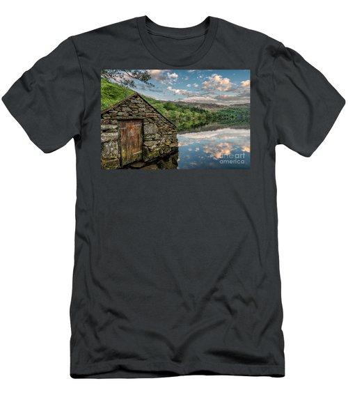 Gwynant Lake Sunset Men's T-Shirt (Athletic Fit)