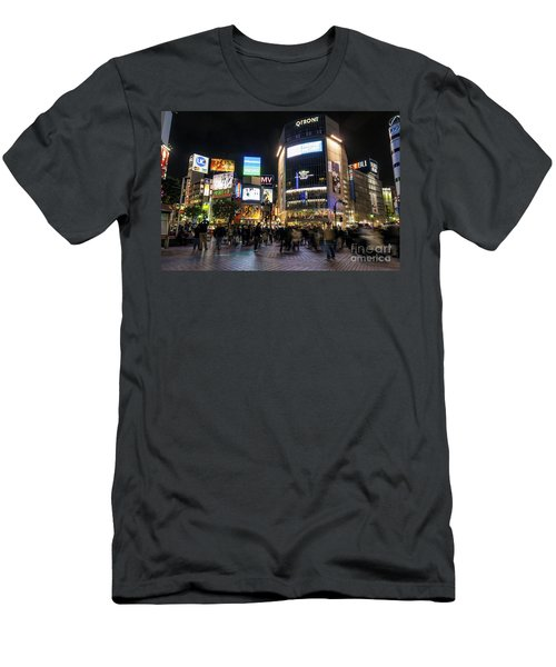 Hachiko Crossing In Shibuya Area Of Central Tokyo Japan Men's T-Shirt (Athletic Fit)
