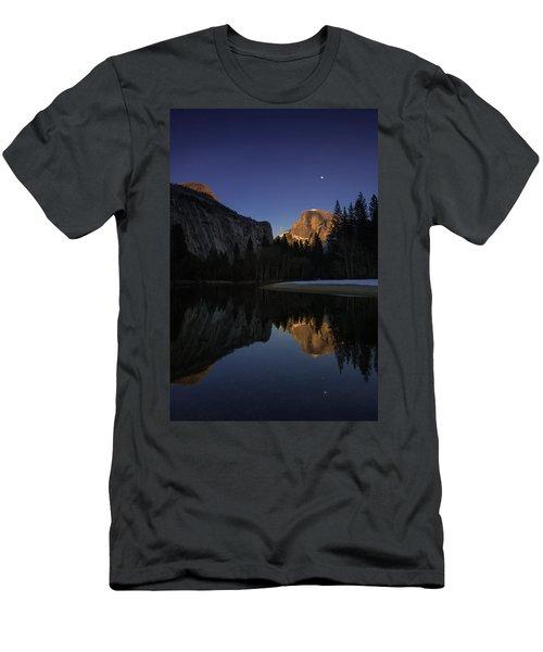 Half Dome, Twilight Men's T-Shirt (Athletic Fit)