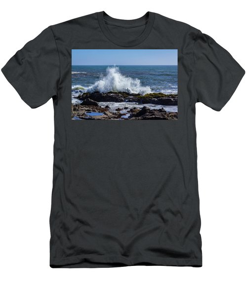 Wave Crashing On California Coast 1 Men's T-Shirt (Athletic Fit)