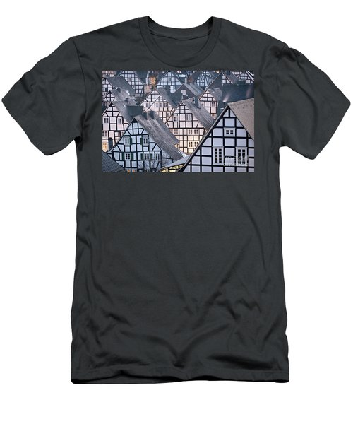 Men's T-Shirt (Athletic Fit) featuring the photograph Half-timbered Houses In Detail In Germany by IPics Photography