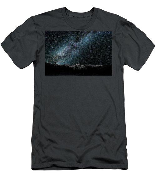 Hallet Peak - Milky Way Men's T-Shirt (Athletic Fit)