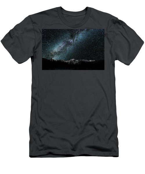 Hallet Peak - Milky Way Men's T-Shirt (Athletic Fit)
