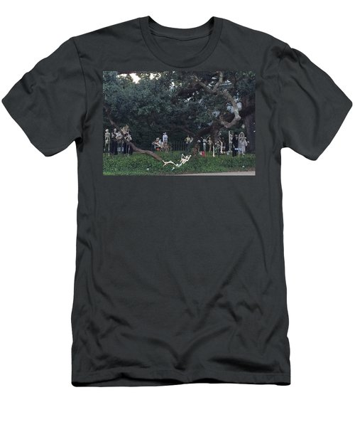 Halloween Yard Party Men's T-Shirt (Athletic Fit)