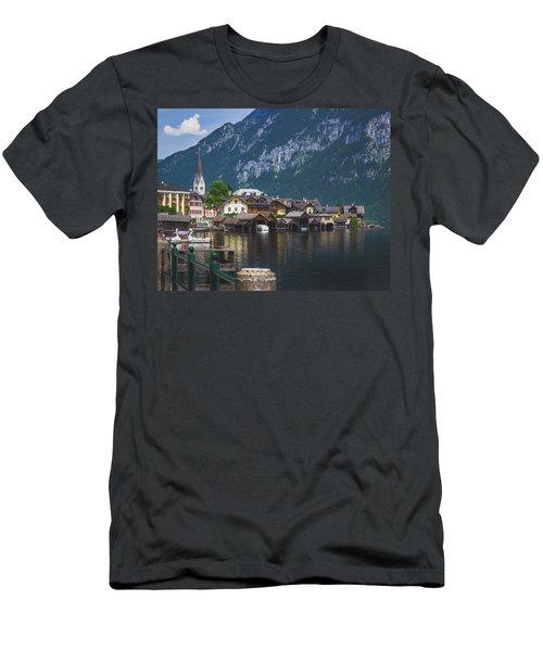 Hallstatt Lakeside Village In Austria Men's T-Shirt (Athletic Fit)