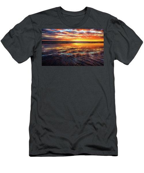 Men's T-Shirt (Slim Fit) featuring the photograph Hampton Beach by Robert Clifford