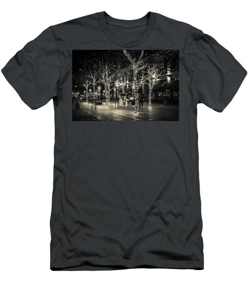 Men's T-Shirt (Slim Fit) featuring the photograph Handsome Cab In Monochrome by Kristal Kraft