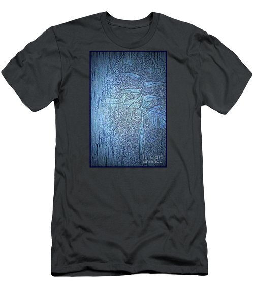 Hanging In Blue Men's T-Shirt (Slim Fit) by Pamela Blizzard