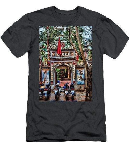 Hanoi Pagoda II Men's T-Shirt (Athletic Fit)
