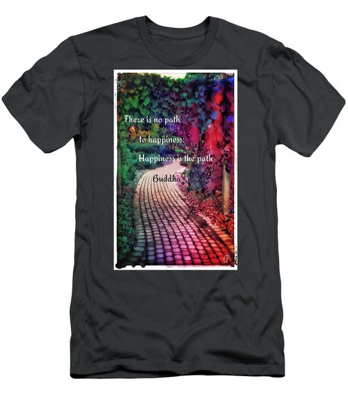 Happiness Path Men's T-Shirt (Athletic Fit)
