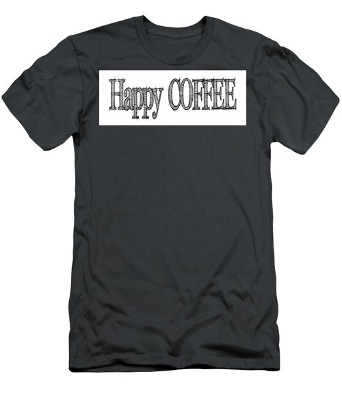 Happy Coffee Mug Men's T-Shirt (Slim Fit) by Robert J Sadler