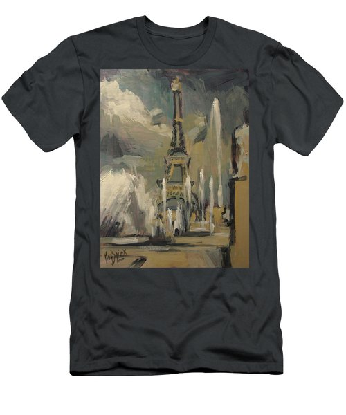 Happy Fountains At Trocadero Men's T-Shirt (Athletic Fit)