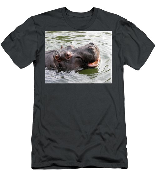 Happy Hippo Men's T-Shirt (Athletic Fit)