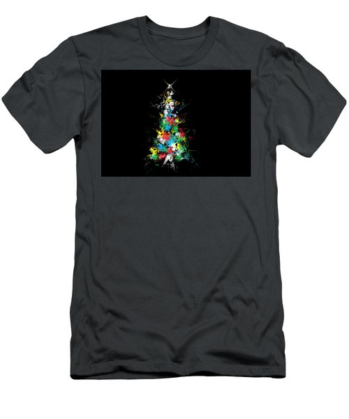 Happy Holidays - Abstract Tree - Horizontal Men's T-Shirt (Athletic Fit)