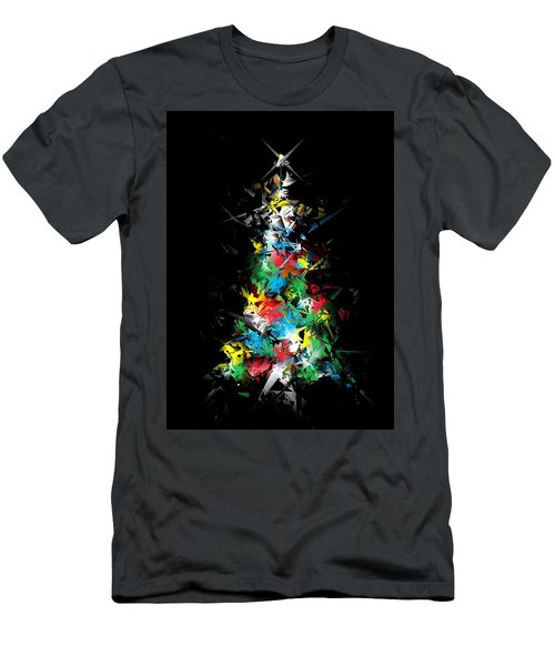 Happy Holidays - Abstract Tree - Vertical Men's T-Shirt (Athletic Fit)