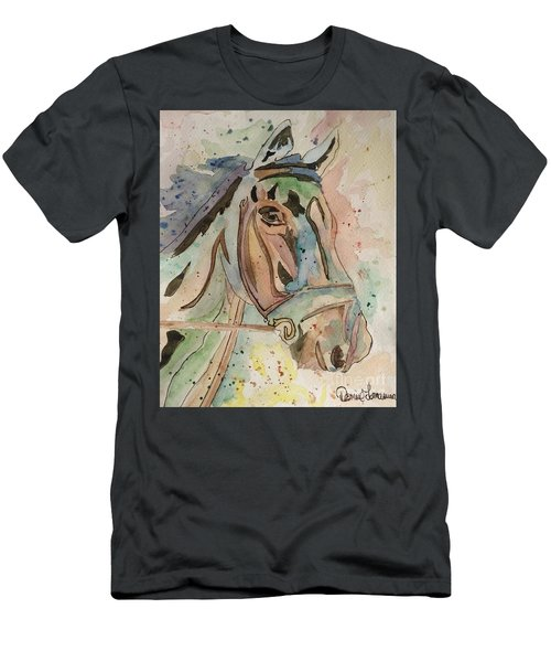 Men's T-Shirt (Athletic Fit) featuring the painting Happy Horse by Denise Tomasura