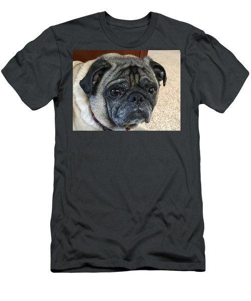 Happy Pug Men's T-Shirt (Athletic Fit)