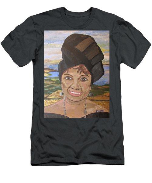 Happy Ramadan - Auntie Johnson Men's T-Shirt (Slim Fit) by Mudiama Kammoh