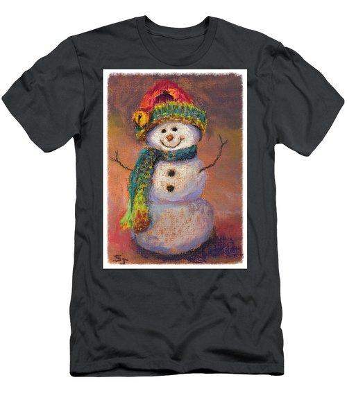Happy Snowman Men's T-Shirt (Athletic Fit)