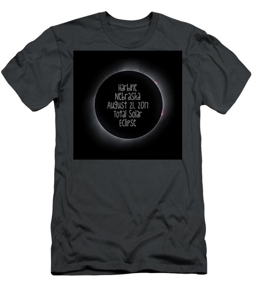 Harbine Nebraska Total Solar Eclipse August 21 2017 Men's T-Shirt (Athletic Fit)